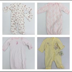 Little Me girls lot of infant sleepers